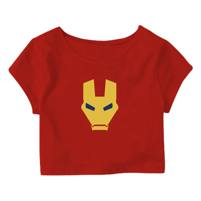Iron man mask Crop Top