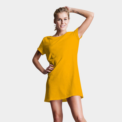 Plain Yellow T-Shirt Dress