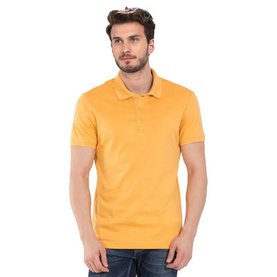 Plain Yellow Polo T-Shirt