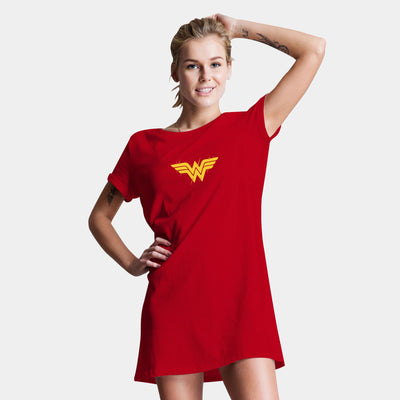 Wonder Women Logo T-Shirt Dress