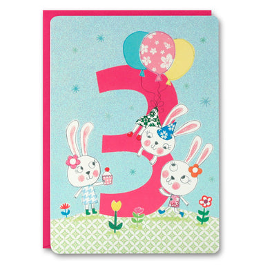 HC2396 - Girl Age 3 Bunny Card
