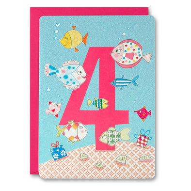 HC2398 - Girl Age 4 Fish Card
