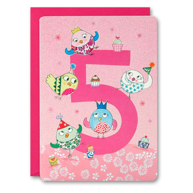 HC2400 - Girl Age 5 Owls Card