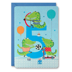 HC2401 - Boy Age 5 Crocodiles Card