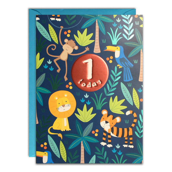 HC3137 - Age 1 Blue Jungle Card