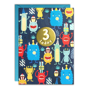 HC3141 - Age 3 Monsters Card