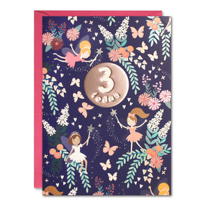 HC3142 - Age 3 Fairies Card