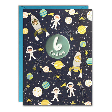 HC3147 - Age 6 Space Card