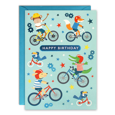 HC3255 - Bikes Kids Birthday Card
