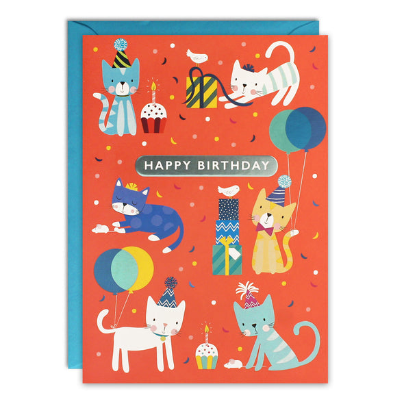 HC3256 - Cats Kids Birthday Card