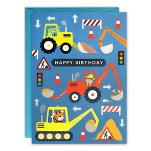 HC3257 - Diggers Kids Birthday Card