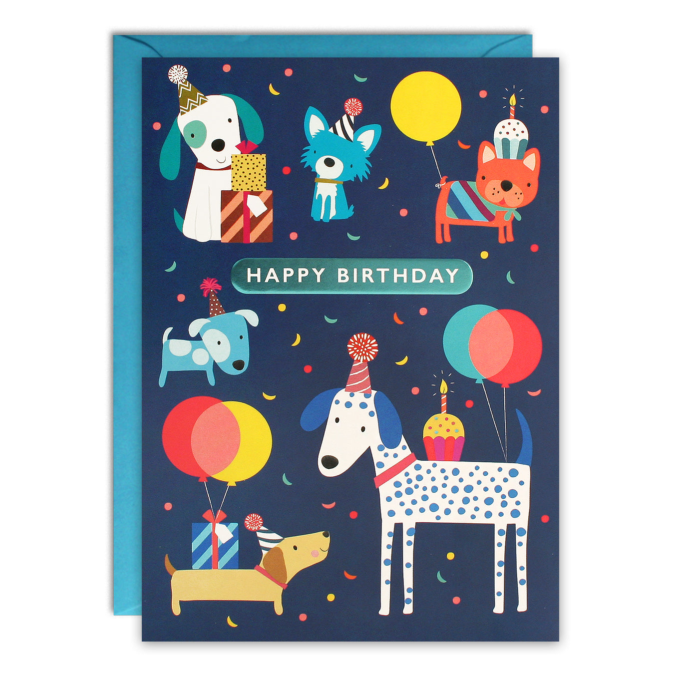 Admirable Hc3258 Dogs Kids Birthday Card James Ellis Funny Birthday Cards Online Fluifree Goldxyz