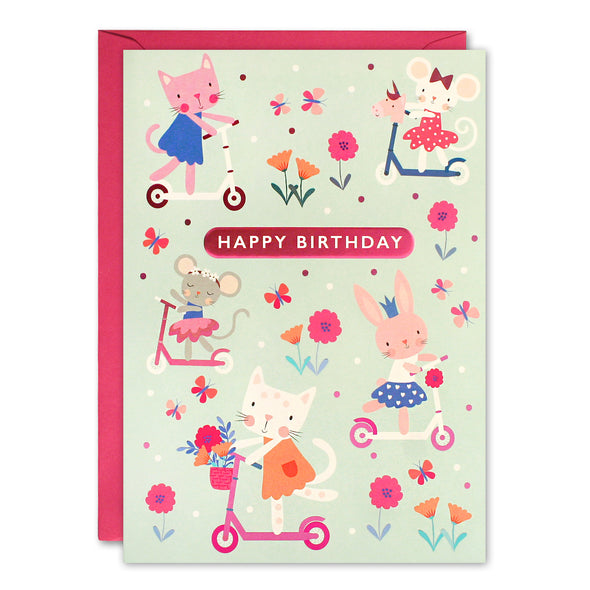 HC3259 - Scooters Kids Birthday Card