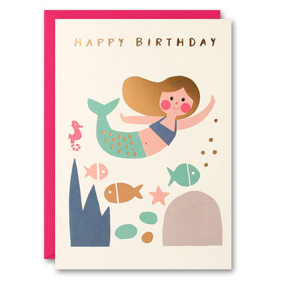 HE2519 - Mermaid with Gold Hair Card