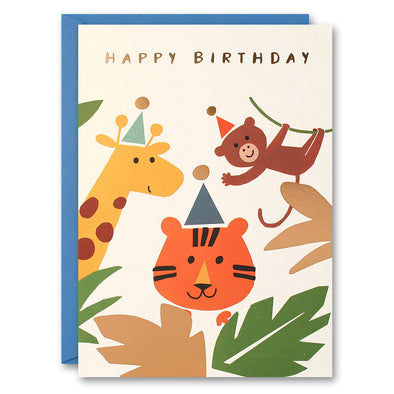 HE2521 - Tiger Giraffe and Monkey Card