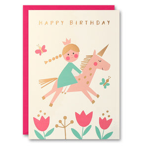 HE2612 - Princess on Unicorn Card