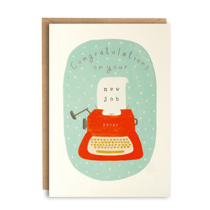 L2739 - New Job Typewriter Peachy Card