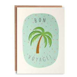 L2751 - Bon Voyage Palm Tree Peachy Card