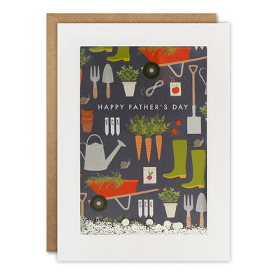 PH3036 - Dad Gardening Pattern Rectangular Shakies Card