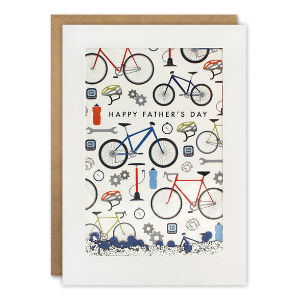 PH3038 - Dad Cycling Pattern Rectangular Shakies Card