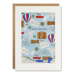 PH3130 - Bon Voyage Pattern Rectangular Shakies Card