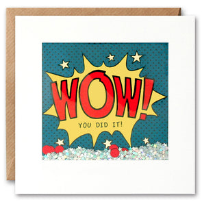 PK2530 - Wow You Did it Kapow Shakies Card