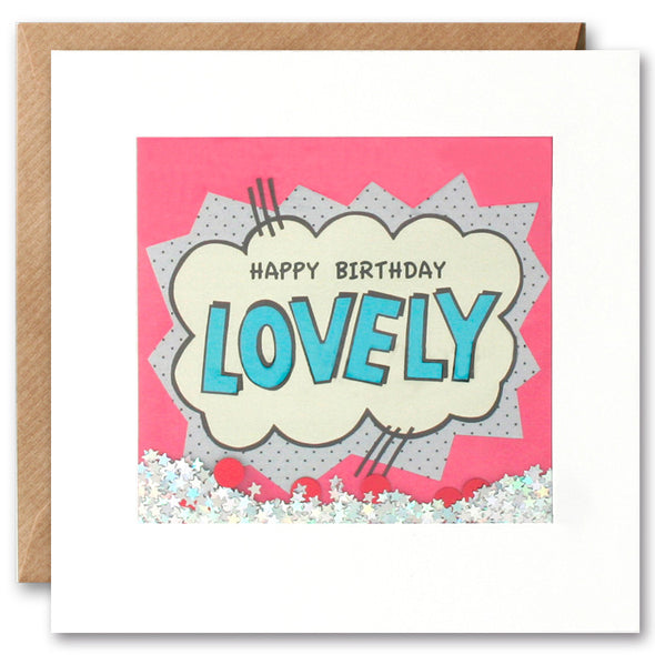 PK2534 - Happy Birthday Lovely Shakies Card
