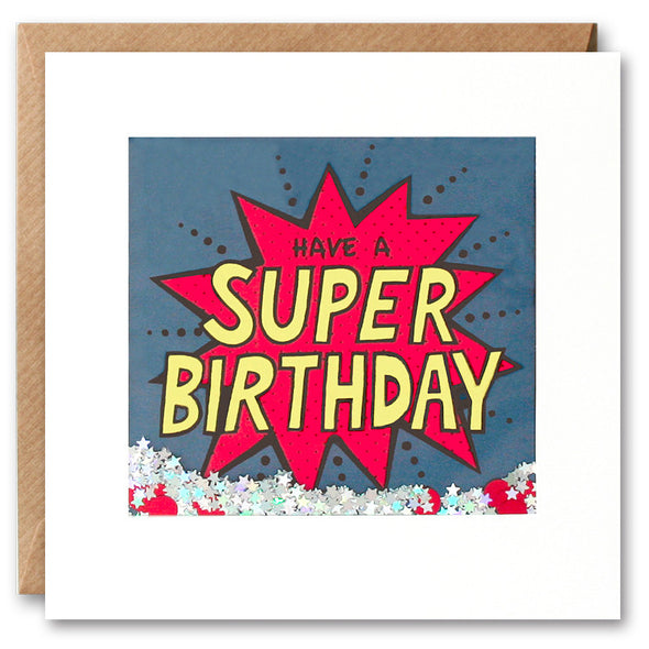 PK2535 - Super Birthday Kapow Shakies Card