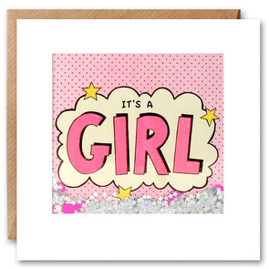 PK2607 - It's a Girl Kapow Shakies Card