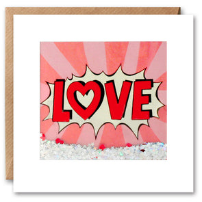PK2621 - Love Kapow Shakies Card