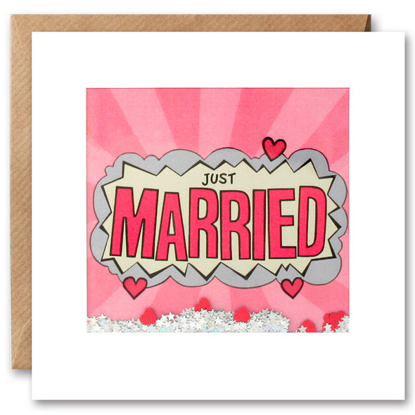 PK2656 - Just Married Kapow Shakies Card