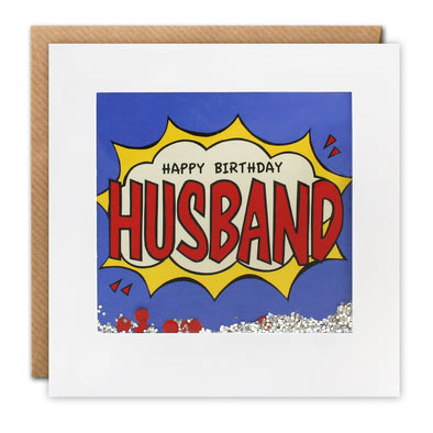 PK2685 - Husband Birthday Kapow Shakies Card