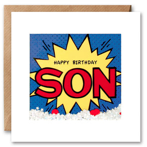 PK2686 - Son Birthday Kapow Shakies Card