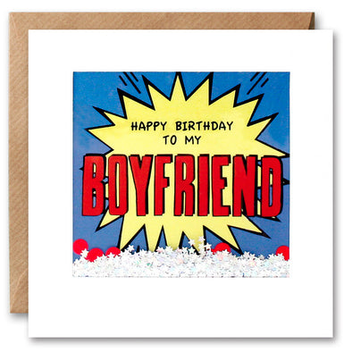 PK2801 - Boyfriend Birthday Kapow Shakies Card