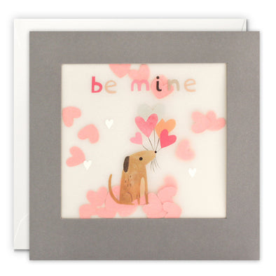 PP3311 - Be Mine Dog Paper Shakies Card