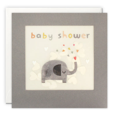 PP3313 - Baby Shower Elephant Paper Shakies Card
