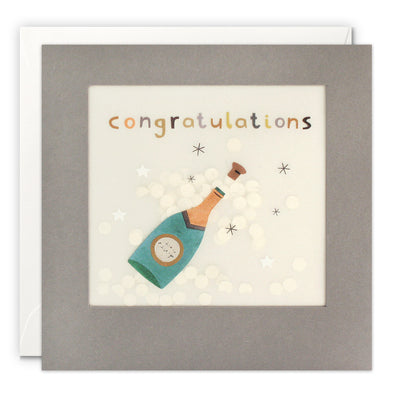 PP3314 - Congratulations Champagne Paper Shakies Card