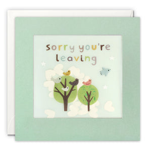 PP3316 - Leaving Birds Paper Shakies Card