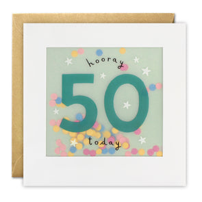 PP3323 - Age 50 Stars Paper Shakies Card