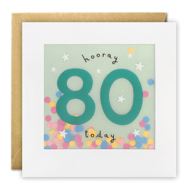 PP3326 - Age 80 Stars Paper Shakies Card