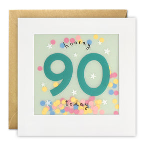 PP3327 - Age 90 Stars Paper Shakies Card