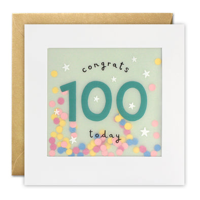 PP3328 - Age 100 Stars Paper Shakies Card