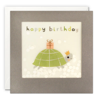 PP3340 - Happy Birthday Tortoise Grey Paper Shakies Card