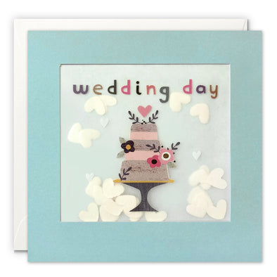 PP3343 - Wedding Cake Grey Paper Shakies Card