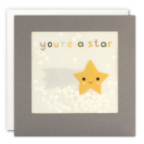 PP3352 - You're a Star Grey Paper Shakies Card