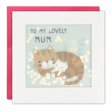 PP3366 - Lovely Mum Cats Paper Shakies Card