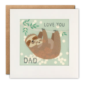 PP3371 - Love You Dad Sloth Paper Shakies Card