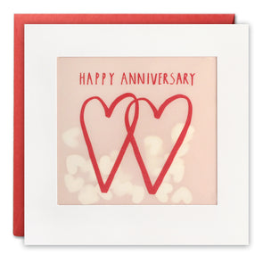 PP3432 - Two Hearts Anniversary Paper Shakies Card