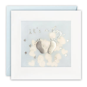 PP3439 - It's a Boy Feet Paper Shakies Card
