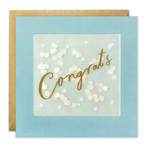 PP3442 - Gold Gongrats Paper Shakies Card